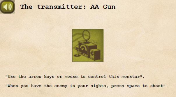 The transmitter - AA Gun